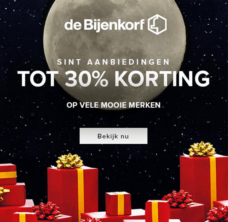 Bijenkorf Sint Aanbiedingen +30% 2018